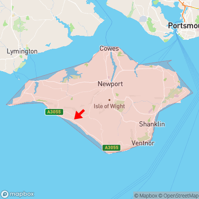 Location of Marsh Green within Isle of Wight