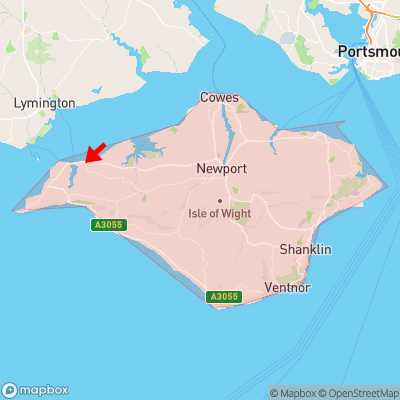 Location of Bouldnor within Isle of Wight