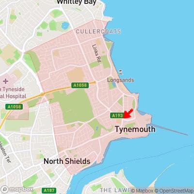 Location of Tynemouth within NE30