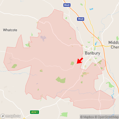 Location of Broughton within OX15