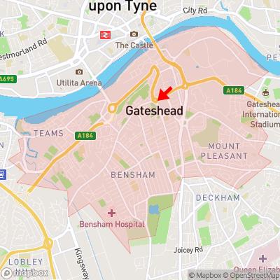 Location of Gateshead within NE8