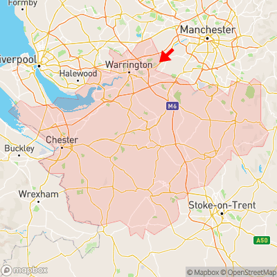 Location of Hollinfare within Cheshire