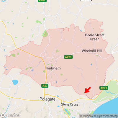Location of Chilley Green within BN27