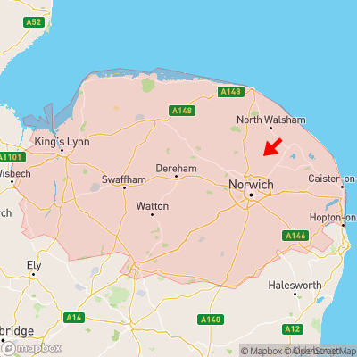 Location of Great Hautbois within Norfolk