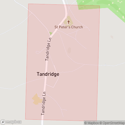 Map showing extent of Tandridge as bounding box