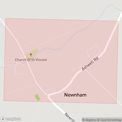 Map showing extent of Newnham as bounding box