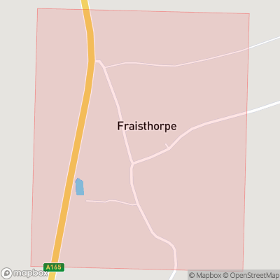 Map showing extent of Fraisthorpe as bounding box