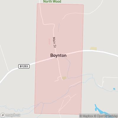 Map showing extent of Boynton as bounding box