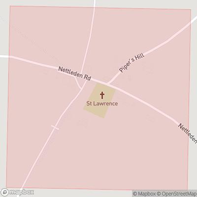 Map showing extent of Nettleden as bounding box