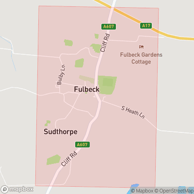 Map showing extent of Fulbeck as bounding box