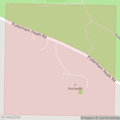 Map showing extent of Hurlands as bounding box