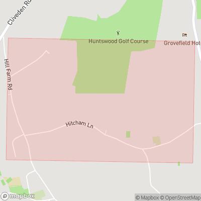 Map showing extent of Hitchambury as bounding box