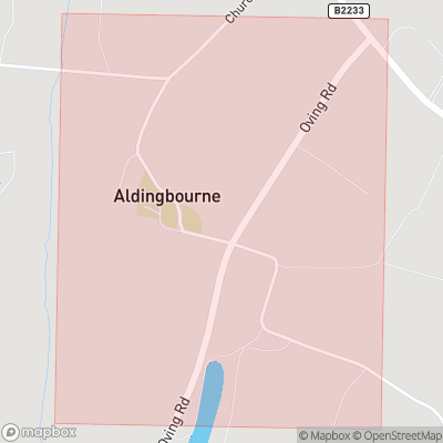 Map showing extent of Aldingbourne as bounding box