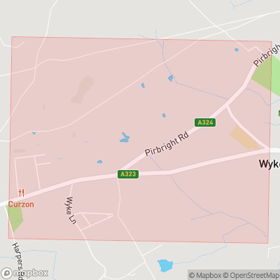 Map showing extent of Wyke as bounding box