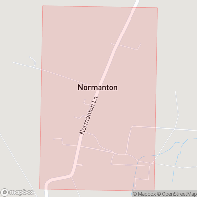 Map showing extent of Normanton as bounding box