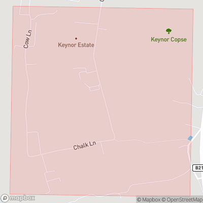 Map showing extent of Keynor Estate as bounding box