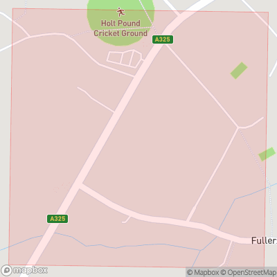 Map showing extent of Holt Pound as bounding box