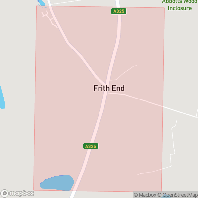 Map showing extent of Frithend as bounding box