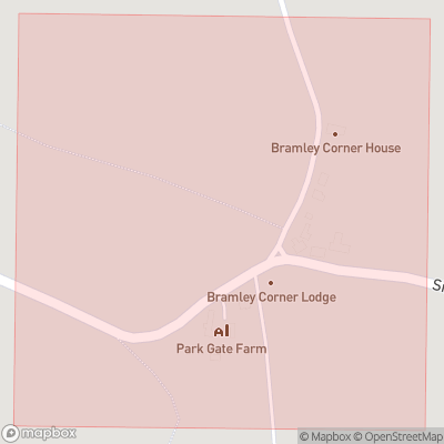 Map showing extent of Bramley Corner as bounding box