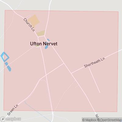 Map showing extent of Ufton Nervet as bounding box