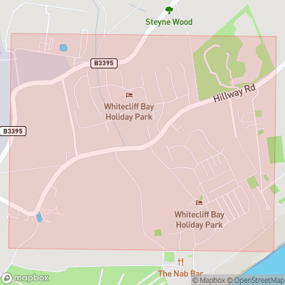 Map showing extent of Hillway as bounding box