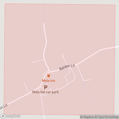 Map showing extent of Toot Baldon as bounding box