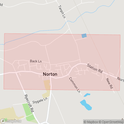 Map showing extent of Norton as bounding box