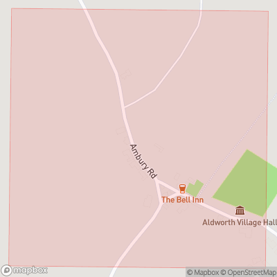 Map showing extent of Aldworth as bounding box
