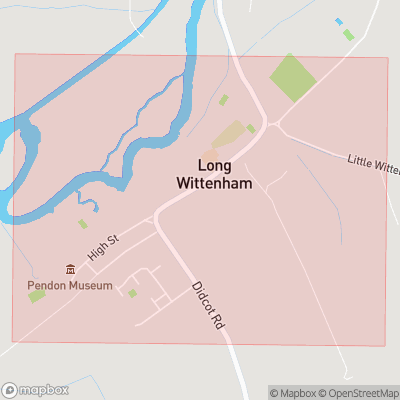 Map showing extent of Long Wittenham as bounding box