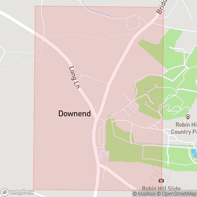 Map showing extent of Downend as bounding box