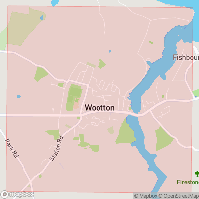 Map showing extent of Wootton as bounding box