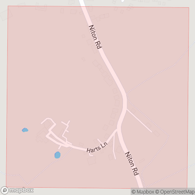 Map showing extent of Rookley Green as bounding box