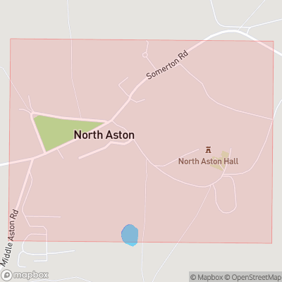 Map showing extent of North Aston as bounding box