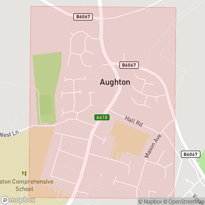 Map showing extent of Aughton as bounding box