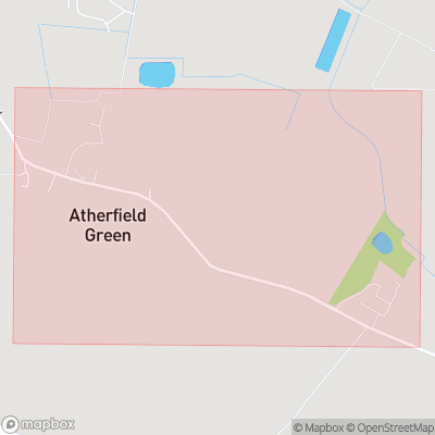 Map showing extent of Atherfield Green as bounding box