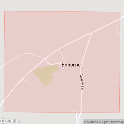Map showing extent of Enborne as bounding box