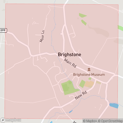Map showing extent of Brighstone as bounding box