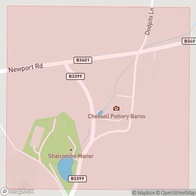 Map showing extent of Shalcombe as bounding box