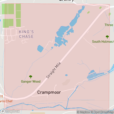 Map showing extent of Crampmoor as bounding box