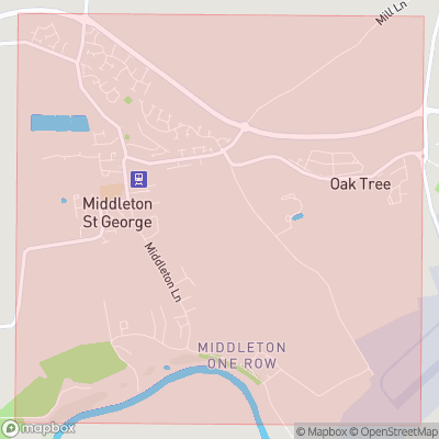 Map showing extent of Middleton St George as bounding box