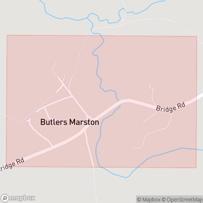 Map showing extent of Butlers Marston as bounding box