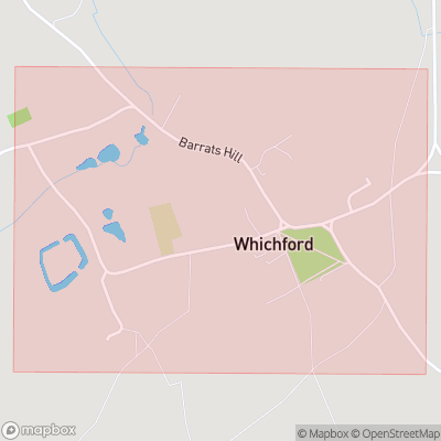 Map showing extent of Whichford as bounding box