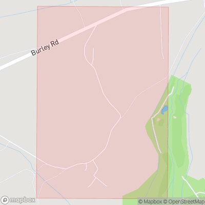 Map showing extent of South Weirs as bounding box