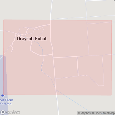 Map showing extent of Draycot Foliat as bounding box