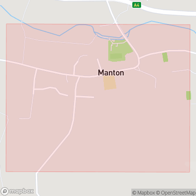 Map showing extent of Manton as bounding box