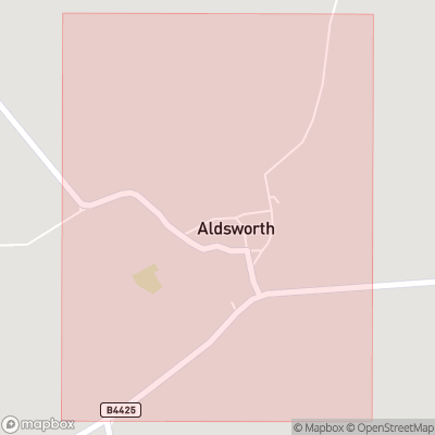 Map showing extent of Aldsworth as bounding box