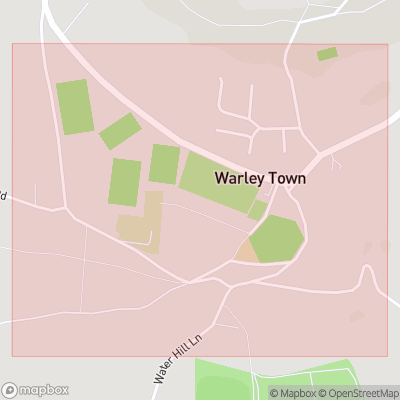 Map showing extent of Warley Town as bounding box