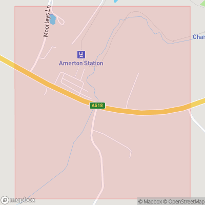 Map showing extent of Amerton as bounding box