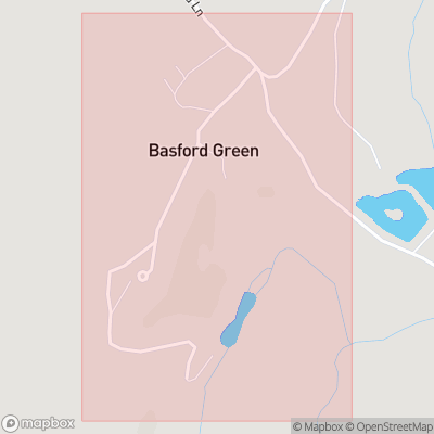 Map showing extent of Basford Green as bounding box