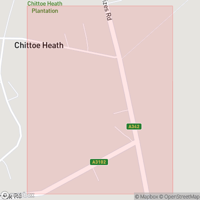 Map showing extent of Chittoe Heath as bounding box